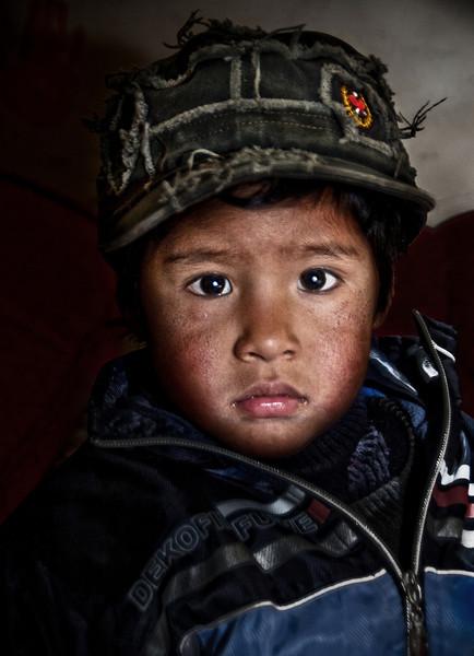 Orphan at the silver mines of Cerro Rico, Bolivia, 2010.