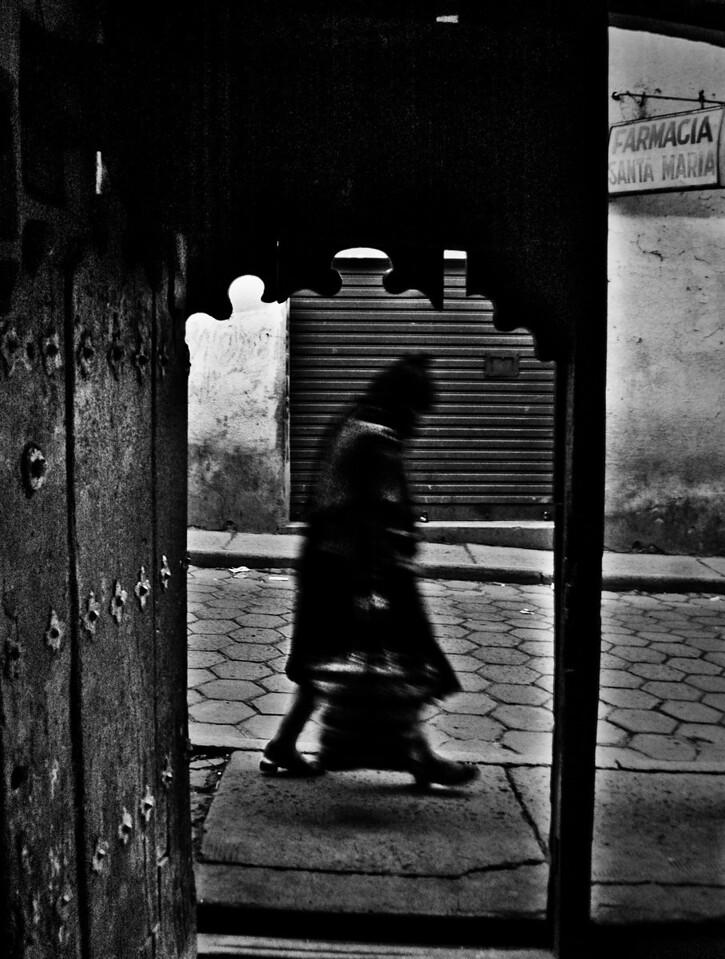 Woman walking, Bolivia, 2010.
