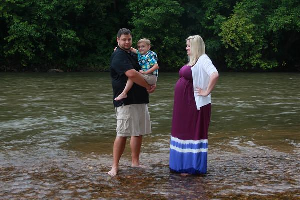 Brandon Michea Family Portrait River Session