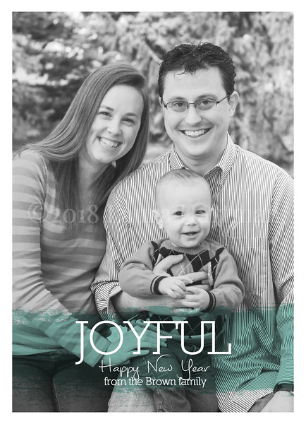 Front New Year's Card Option - everything is customizable.