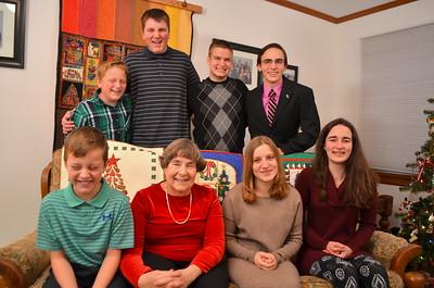 Phyllis with grandchildren - 4 (Tom providing the comic releaf