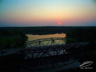 Three Rivers Bridge Sunset