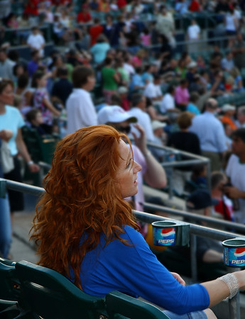 IMG#0633 Redhead at the Ballgame