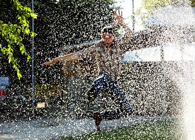 Sprinkler Hero (enlarge for detail) - fighting crime, one droplet at a time...