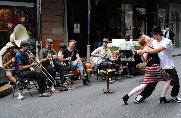 Street Band & Dancers, New Orleans