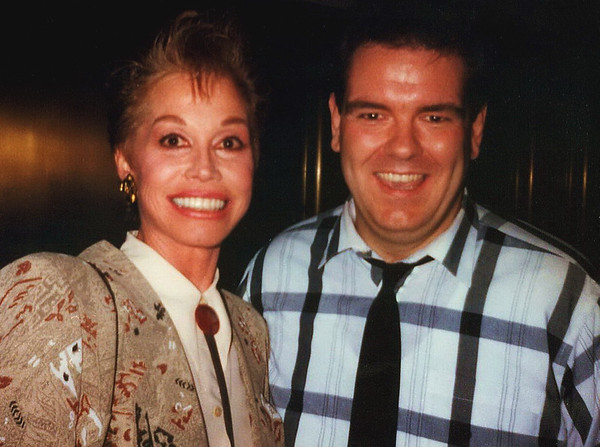 """Actress Mary Tyler-Moore & Actor Jim O' Heir, <br /> Saturday Night Live After-Party, New York, 1989<br /> <br /> A Link Explaining the Story Behind this Photo: <a href=""""http://www.vulture.com/2012/09/mary-tyler-moore-jim-oheir.html"""">http://www.vulture.com/2012/09/mary-tyler-moore-jim-oheir.html</a>"""