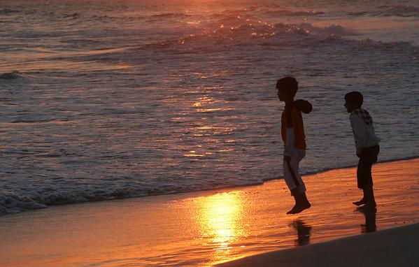 beach sunset, Salalah