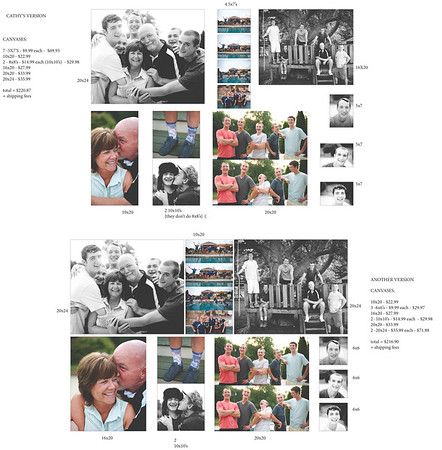 Canvas Layouts for Cathy Matis
