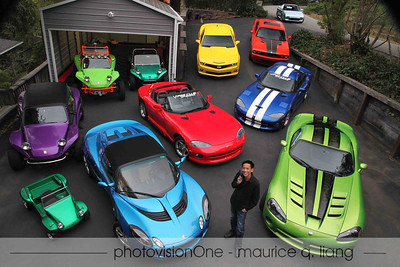 Portraits of people with their cars.