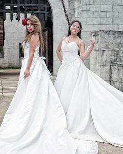 Karla Ramirez and Ana Quiros models, Johanna Bubela MUA