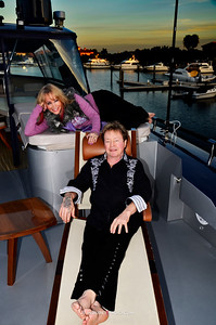 "Jenda & Rick Derringer aboard K23 Yacht Charters ""Algorythm"" for Family Beautiful Magazine."
