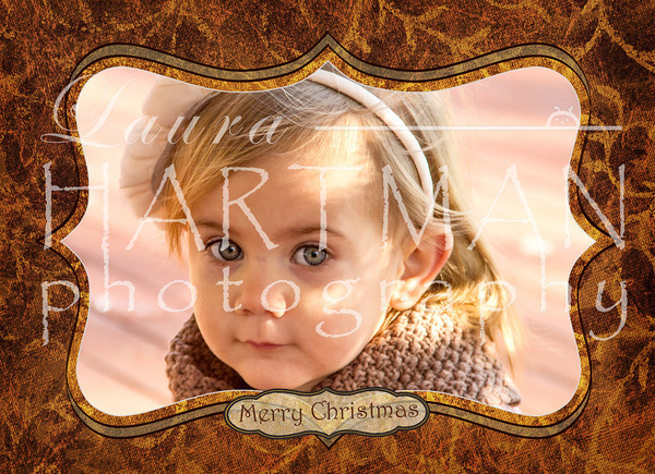 Christmas Card Sample - Christmas cards can be custom created using any photo and any design. -LH