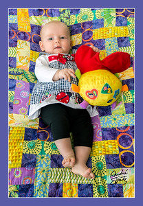 Lucienne on the living room quilt