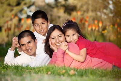 Candid Family Portrait At Davis Arboretum