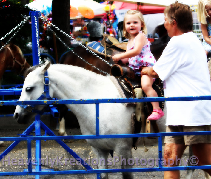 Baby girl riding