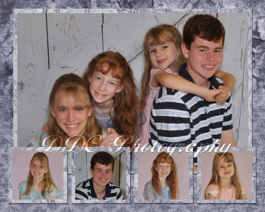 Collage sample1 - 5-photo collage - 8x10 or 11x14 sizes only - available at collage print prices