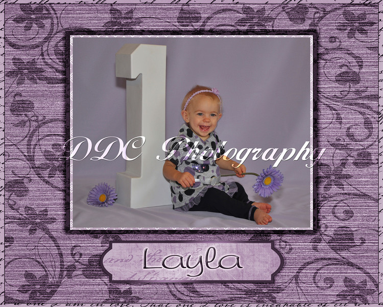 Single Portrait with Decorative Border - available in 4 different sizes