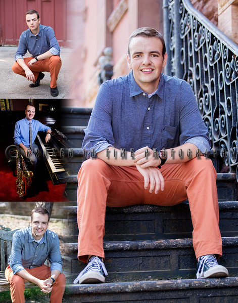 Senior portrait Collage Alex