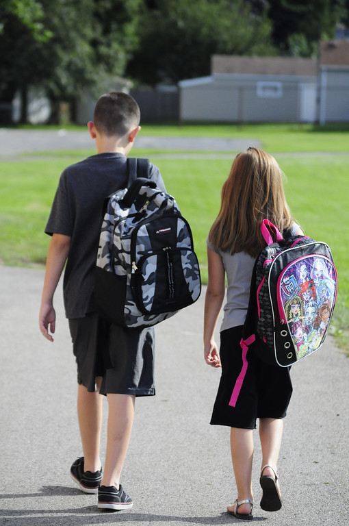 Colin & Taylor back to school