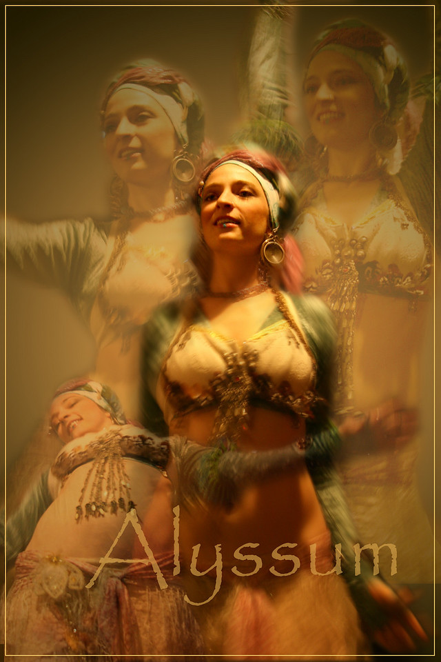 Bellydance teacher Alyssum Pohl at one of her performances.