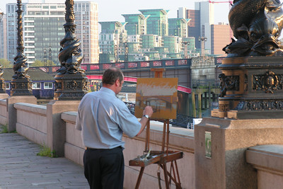 Painting by the Thames