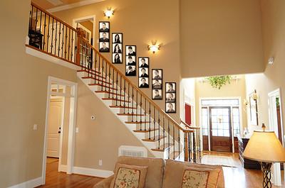 stairway mockup sepia