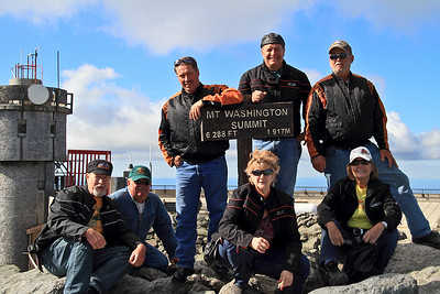 IMG#4920 July 24, 2011 Our Group at Mt. Washington summit: Billy, George, Louie, Ben, Jim Renee, Grace... New Hampshire