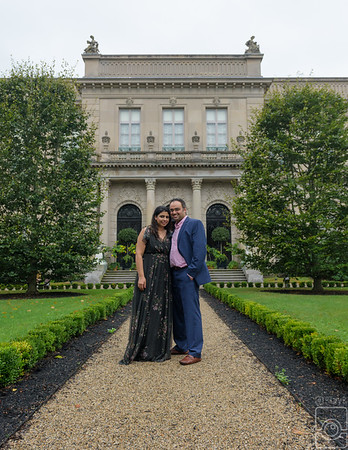 Danish and Garima, Engaged, Elms Mansion Newport RI