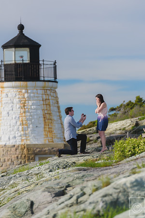 Mike & Elizabeth Engaged Proposal, Castle Hill Inn Newport RI
