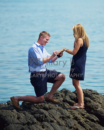 Sean & Kara Surprise Proposal, Cliff Walk RI