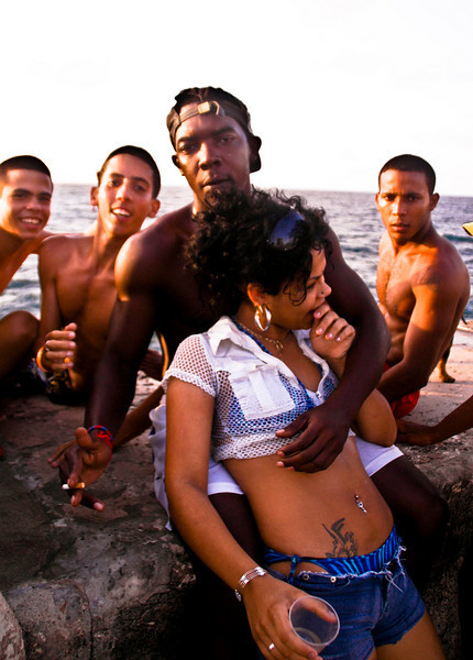 Prostitute and pimp, Havana, Cuba, 2010.