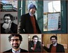 The many moods of Daniel Crow, Ph.D on a winter's afternoon at Lakeside Coffee House.