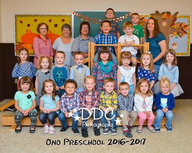 Ono Preschool - Fall 2016