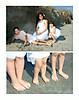 group feet white bkg