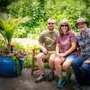 Group shot at the Botanical gardens