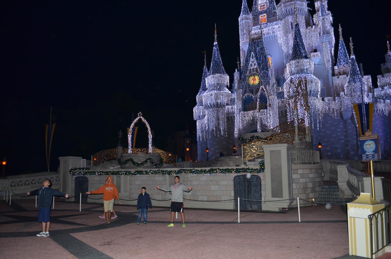 Kids in front of Castle