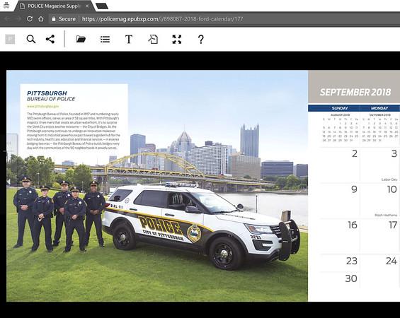 2018 Ford Police Vehicle Calendar, September 2018