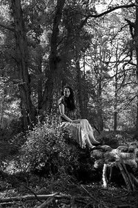 Elissa in the woods