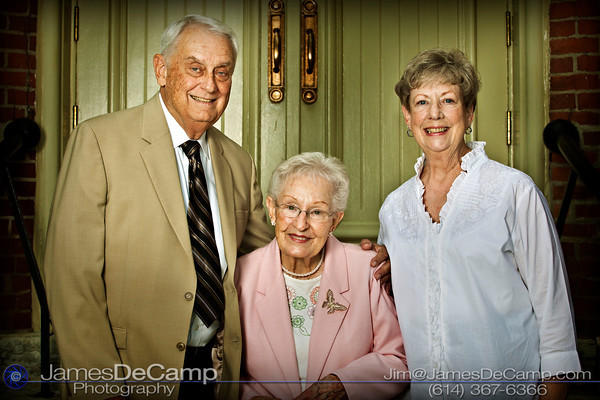 Family portraits taken at the 65th Wedding Anniversary of Bill & Donna Elzey held at the St. Mary's Catholic Church in German Village Saturday afternoon June 12, 2010.  (© James D. DeCamp | http://www.JamesDeCamp.com | 614-367-6366)