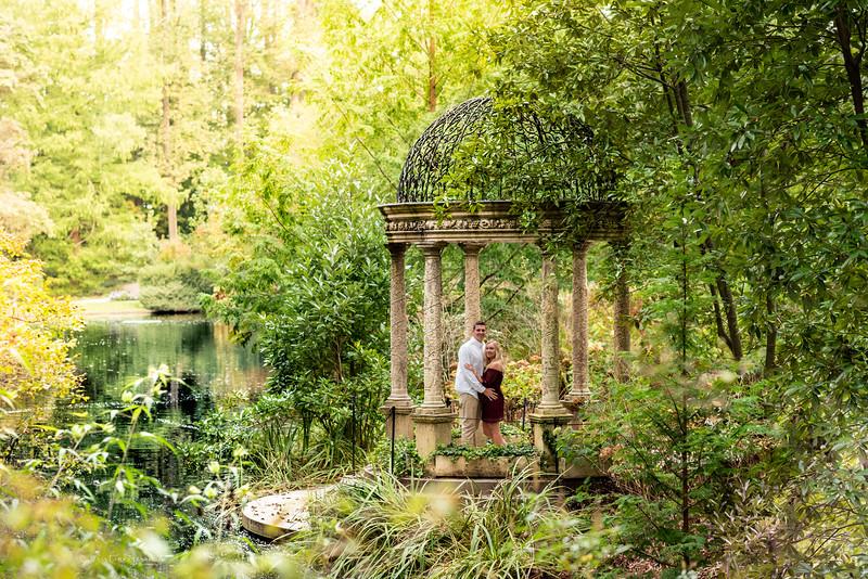 Kirsten & Brady's Longwood Gardens Engagement Photo Session