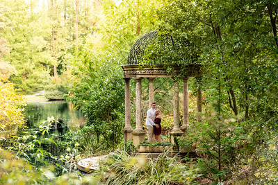 Kirsten & Brady's Longwood Gardens Engagement Photo Session