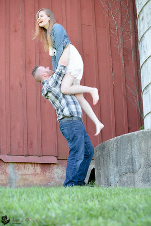 Matthew & Katie's Engagement Session at Swan Harbor Farms