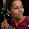 Rhiannon Giddens at a Carolina Chocolate Drops concert at Duke Gardens, Durham, NC on June 21, 2007.
