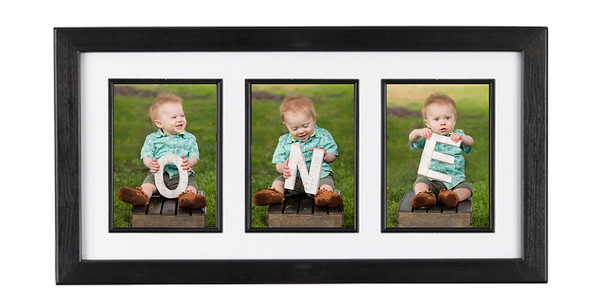 10 x 20 print with 3 vertical 5x7's frame