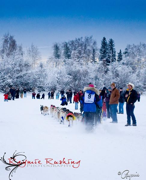 Cindy Barrand - Yukon Quest 2010, Fairbanks Alaska