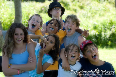 The future of humanity rests in these bright young kids...Bret, Nick, Kethan, AJ, Sam, Vasantha, Kaitlyn, & Jordan in Prince Edward Island, July 25,  2005