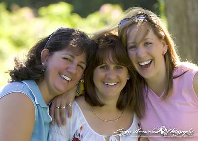 Susan, Darlene, & Gladys in Prince Edward Island, July 25, 2005
