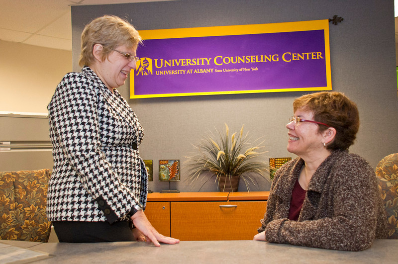 Dr. Dolores Cimini directs nationally-recgonized substance abuse prevention, education, and counseling programs with UAlbany's University Counseling Center. Photographer: Mark Schmidt