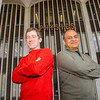 UAlbany physicists Jesse Ernst and Vivek Jain, supported by undergraduate and graduate students and a postdoctoral fellow, are using data collected by the ATLAS detector at the Large Hadron Collider at CERN, Switzerland, to study the fundamental properties of the universe, its constituents — such as electrons and quarks — as well as interactions between them, such as electromagnetic and nuclear forces. Photographer: Mark Schmidt