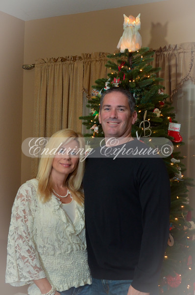 Mark and Patty by the tree with light vignette